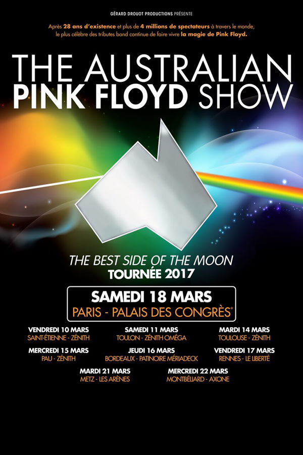 Concert the australian pink floyd show toulouse le 14 for Pink floyd gira 2017