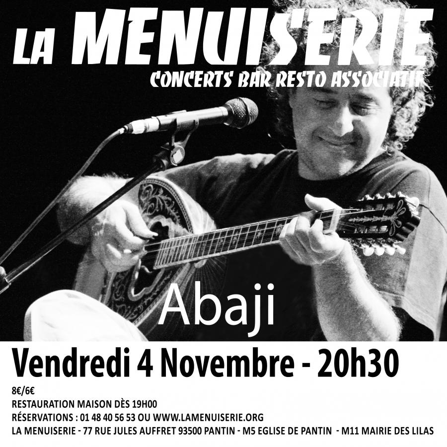 concert abaji pantin vendredi 4 novembre 2016. Black Bedroom Furniture Sets. Home Design Ideas