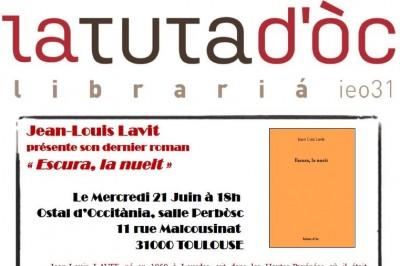 Rencontres littéraires de la Tuta d'Oc #7 avec Jean-Louis Lavit à Toulouse