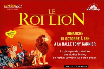 Le Roi lion - Festival Lumière 2017 à Lyon