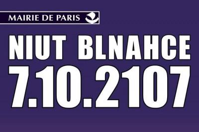 Nuit blanche Paris 2017