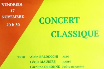 Concert Classique TRIO: Harpe, Alto, Flûte traversière à Saint Paul