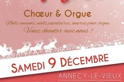 Concert de Noël choeur et orgue à Annecy le Vieux