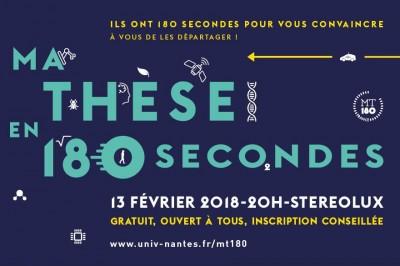 Ma thèse en 180 secondes à Nantes