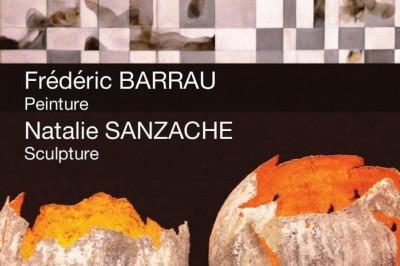 Frédéric Barrau Peinture Natalie Sanzache Sculpture à Le Pecq