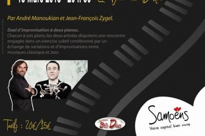 André Manoukian En duo avec Jean-François Zygel. Joute à deux pianos à Samoens