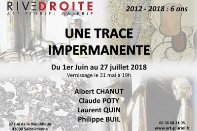 Exposition Une trace Impermanente à Saint Etienne