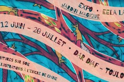 Jardin Magique • expo de peinture sur soie et d'illustration à l'encre de Chine à Toulouse