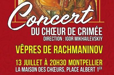 Concert Du ChŒur De Crimée à Montpellier