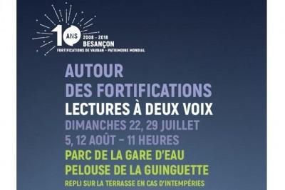 Besançon Littéraire - Autour des Fortifications, lectures à deux voix à Besancon