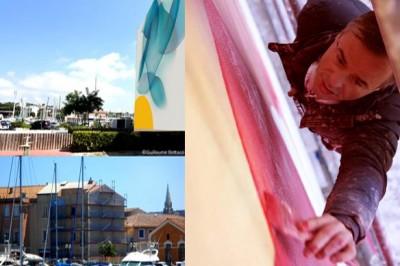 Peinture monumentale de Guillaume Bottazzi sur l'île de Martigues