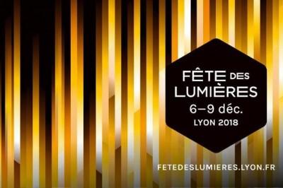 Fête des lumières à Lyon en 2018