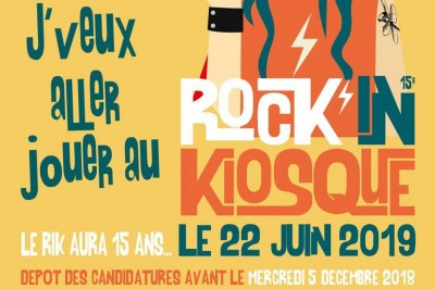 Candidatures pour le festival Rock'in Kiosque 15 à Saint Michel sur Orge