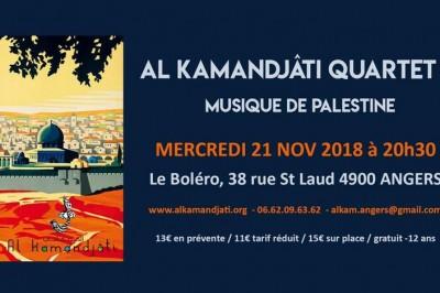 Al Kamandjati Quartet, musique de Palestine à Angers