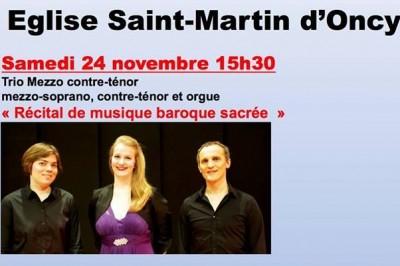 Concert Baroque Mezzo Contre-tenor à Oncy sur Ecole