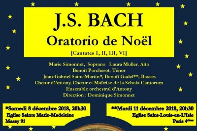 Oratorio de Noël de J.S. BACH à Paris 4ème
