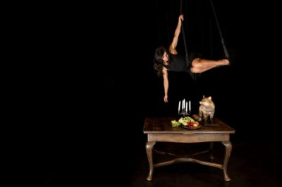 La Table, composition pour femme et renard à Ales