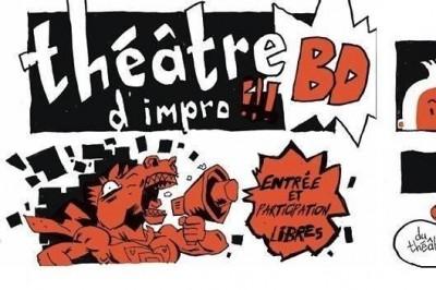 Impro- BD : théâtre improvisé et dessiné #fibd2019 à Angouleme