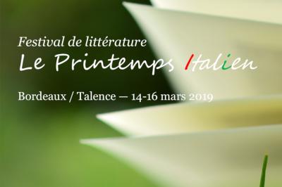 Festival de littérature le printemps italien 2019