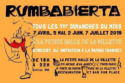 Rumbabierta à La Petite Halle Tous les 1ers Dimanches jusqu'à Juillet à Paris 19ème
