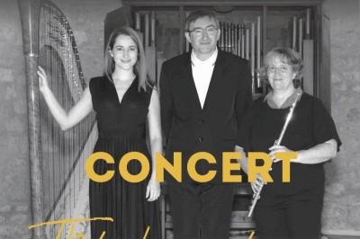 Concert en trio flûte, harpe et orgue à Sainte Foy la Grande