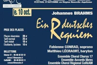 Coréades : Ein Deutsches Requiem de Johannes Brahms à La Rochelle
