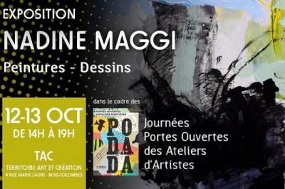 Portes Ouvertes d'Ateliers et D'artistes avec Nadine Maggi à Bois Colombes