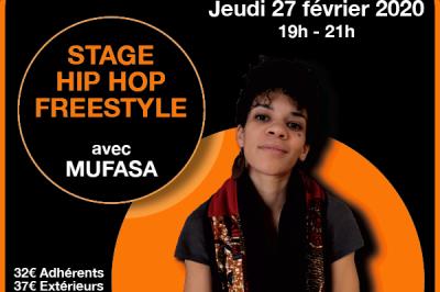 Workshop Hip Hop Freestyle avec Mufasa à Lyon