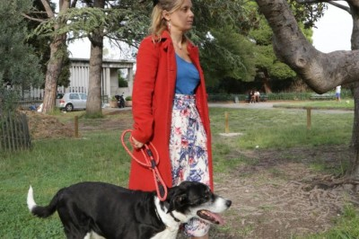 Cosmo ce chien et moi à Marseille