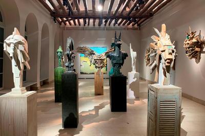 Eric Liot, sculptures à Pont l'Eveque