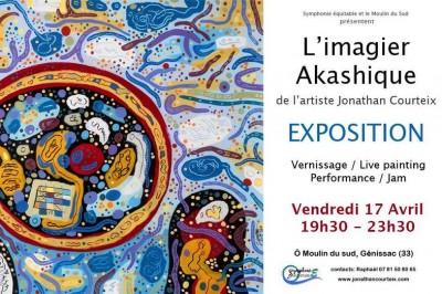 Exposition L' Imagier akashique de J. Courteix à Genissac