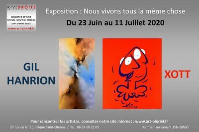 Exposition Xott - Hanrion : Nous vivons tous la même chose à Saint Etienne