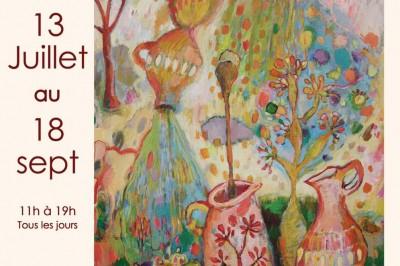 Nouvelles peintures de Christine Garuet à Saint Lizier