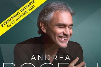 Andrea Bocelli - Date initialement prévue en mars à Paris 12ème