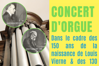 Concert d'orgue Vierne-Franck à Raon l'Etape