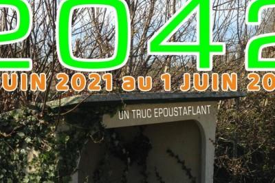 ABRIBUS 2042 exposition performance du Concombre Géant à Cherbourg