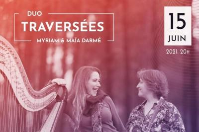 Concert en duo flûte et harpe Ensemble Traversées à Bordeaux
