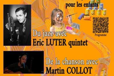 Concert et kermesse à Veaugues avec Eric LUTER quintet et Martin  COLLOT