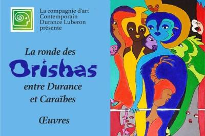 Aconcha La Ronde des Orishas exposition chez 23 commerçants à La Roque d'Antheron