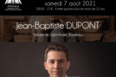 Grand concert d'orgue par Jean-Baptiste DUPONT à Bagneres de Luchon