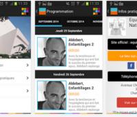 Le programme du Cratère sur mobile Android